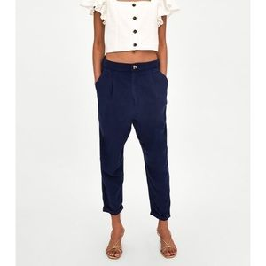 zara Slouchy pants with pockets. M new